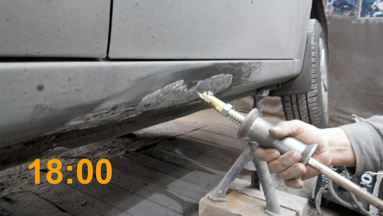 Выправить машину своими руками